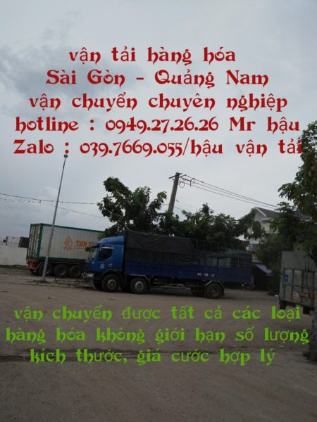 Gởi hàng từ sài gòn về Tây Giang