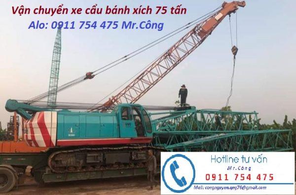Vận chuyển xe cẩu xích tại Hà Nội