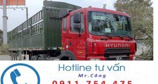 Vận chuyển hàng về Hà Nội bằng xe container bạt