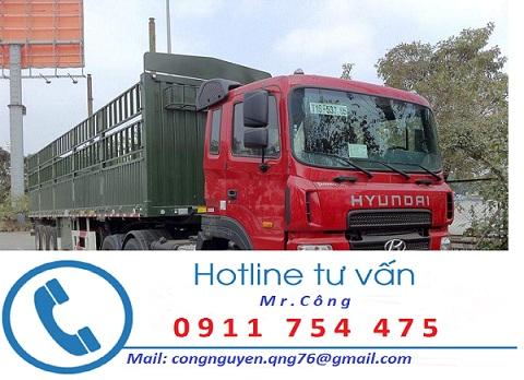Vận chuyển hàng về Kiên Giang bằng xe container bạt