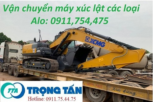 Vận chuyển máy xúc lật XCMG tại Tây Ninh