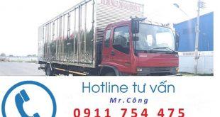 Xe tải thùng kín vận chuyển hàng tại Hà Nội