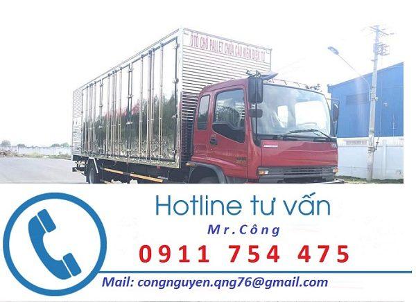 Xe tải thùng kín vận chuyển hàng tại Bình Dương