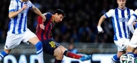 Barcelona vào chung kết gặp Real sau trận hòa 1-1 với Sociedad