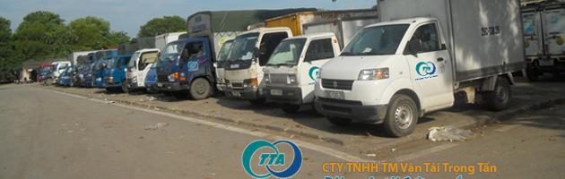 Đội xe chuyên chở hàng đi Bình Định