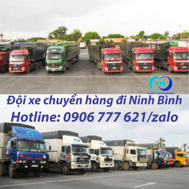 Đội xe chuyển hàng đi Ninh Bình