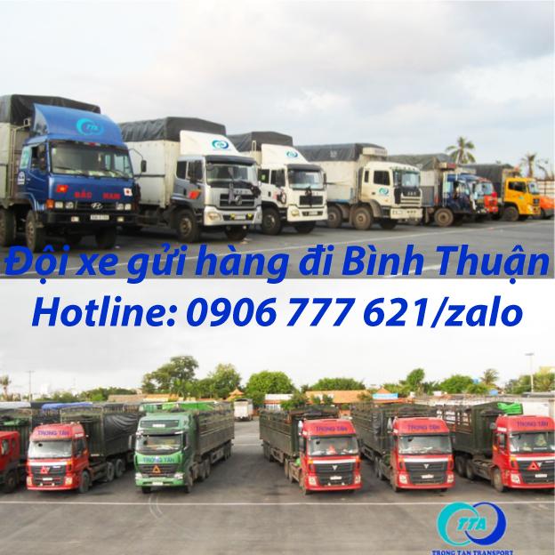 Đội xe gửi hàng đi Bình Thuận