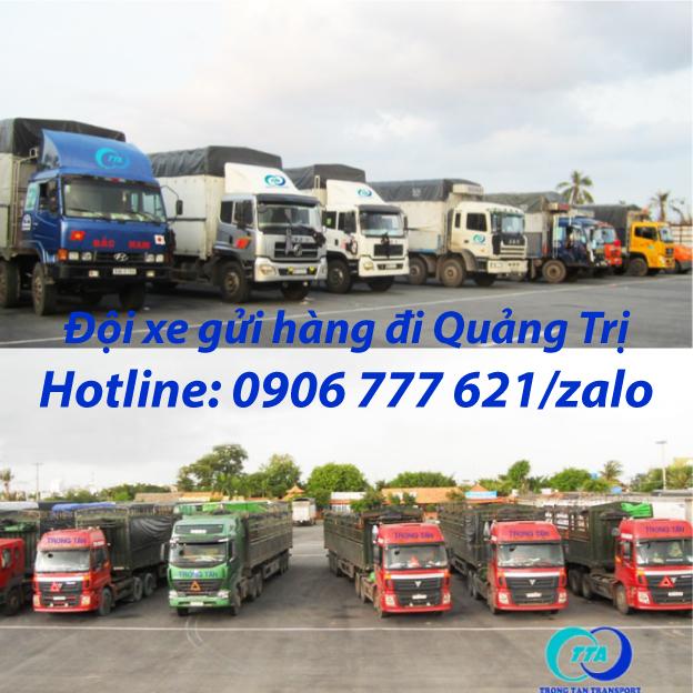 Đội xe gửi hàng đi Quảng Trị