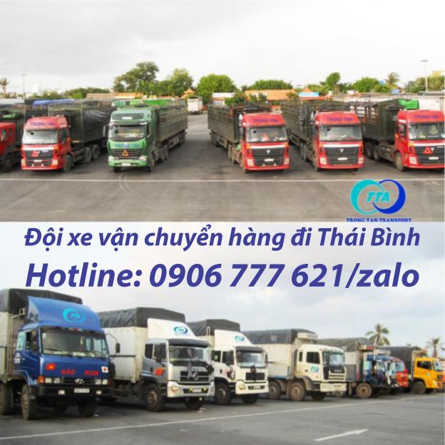 Đội xe vận chuyển hàng đi Thái Bình