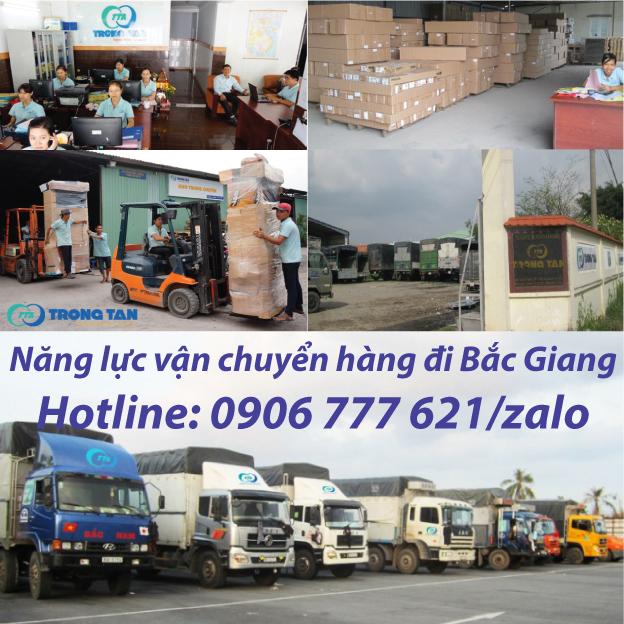 Năng Lực vận chuyển hàng đi Bắc Giang