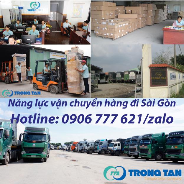 Năng Lực vận chuyển hàng đi Sài Gòn