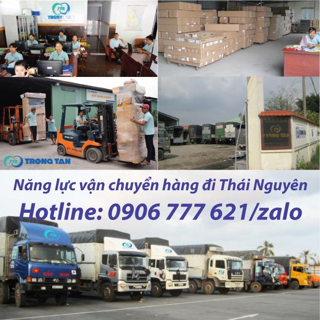 Năng Lực vận chuyển hàng đi Thái Nguyên